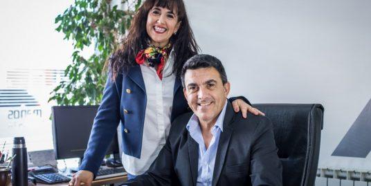 Laura y Abel Zucheli. Integrantes de Zucheli Hermanos. Líderes del mercado de propiedades inmuebles en Puerto Madryn