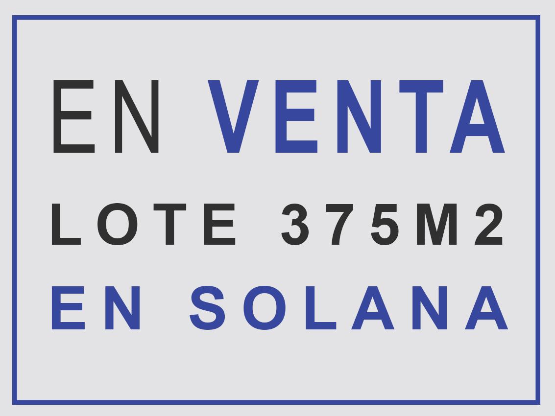 Lote en Solanas | Duraznillo esq. Cortaderas